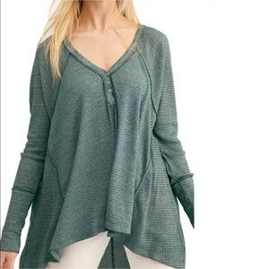 Free People We The Free Citrine Thermal Tee NWT